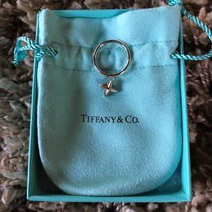 Tiffany & Co. sterling silver star dangle ring